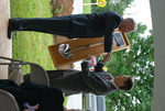 Dr. Tim Tennent Receiving a Gift at the Gallaway Village Dedication - 11