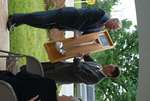 Dr. Tim Tennent Receiving a Gift at the Gallaway Village Dedication - 12