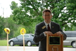 Dr. Tim Tennent at the Gallaway Village Dedication
