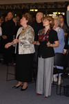 Dr. Geneval Silvernail and Dr. Zaida Perez Worshiping in Orlando Chapel