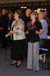 Dr. Geneval Silvernail and Dr. Zaida Perez Worshiping in Orlando Chapel - 2