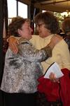Dr. Geneva Silvernail Hugging a Woman in Orlando Chapel