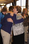 Dr. Geneva Silvernail Hugging a Woman in Orlando Chapel - 3