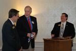 Dr. Tim Tennent, Golden Graduate James Ogan, and Jay Mansur at the 2011 Golden Graduate Dinner - 2