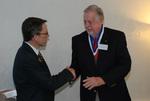 Dr. Tim Tennent and 2011 Golden Graduate James Ogan - 2