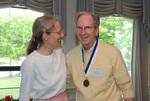 Julie Tennent and 2011 Golden Graduate Jim Stratton