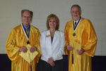 2011 Golden Graduates Jim Stratton and James Ogan with Tammy Cessna