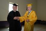 2011 Golden Graduate James Ogan with a 2011 Graduate - 4