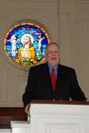 2011 Golden Graduate James Ogan in Estes Chapel - 4