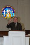 2011 Golden Graduate Paul Johnston in Estes Chapel