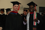 Clint Sheets and Paul Korir at the Spring 2011 Graduation - 2
