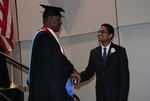 Monroe Parker and Stanley John at the Spring 2011 Graduation