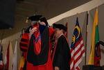 Hugging on the Platform at the Spring 2011 Graduation