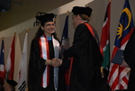 Doris Khalaf and Dr. Tim Tennent at the Spring 2011 Graduation