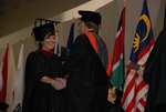 Kristen Schrickel and Dr. Tim Tennent at the Spring 2011 Graduation