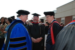 Dr. Art McPhee and Dr. Tim Tennent after the Spring 2011 Graduation