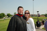 Chad and Meredith Brooks after the Spring 2011 Graduation