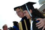 Dr. David Thompson and Doris Khalaf after the Spring 2011 Graduation - 2