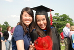 Hannah Mun and Nattaya Swasdipan after the Spring 2011 Graduation