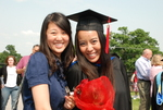 Hannah Mun and Nattaya Swasdipan after the Spring 2011 Graduation - 2