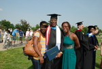 Monroe Parker and Family after the Spring 2011 Graduation