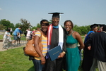 Monroe Parker and Family after the Spring 2011 Graduation - 3
