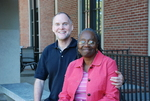 Drs. Craig and Medine Keener In Front of the Library - 2