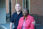 Drs. Craig and Medine Keener In Front of the Library - 3