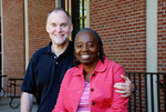 Drs. Craig and Medine Keener In Front of the Library - 7