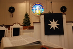 Estes Chapel Altar Area Decorated for Christmas Close Up (jpg) - 4