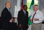 Dr. Terry Muck, Dr. Douglas Carew, and Dr. Jim Miller Talking