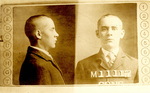 Front and side mug shots of George Ellis as a convict (back)