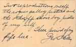 Portrait of portrait George B. Ellis with list of references (Back)