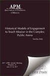 Historical Models of Engagement to teach Mission in the Complex Public Arena