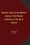 Nazarite review of the Pastoral address of the Genesee Conference of the M. E. Church by J. Bowman