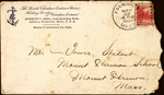 Envelope with Floating Socities of Christian Endeavor letter head addressed to Mr Tower, Student Mount, Hermon School, Mount Hermon, Massachusetts