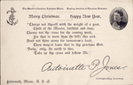 The 1907 Christmas Greeting from Miss Jones