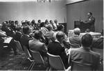 Byers, Bishop Charlie conducting camp meeting seminar