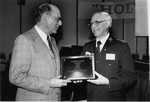 Kinlaw, Dennis gives the 1979 Holiness Exponent of the Year Award to Clarence D Wiseman