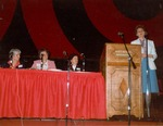 Lyon, Joanne Conducting Women's Seminar at 1984 CHA meeting
