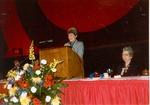 Kelley, Mrs. Addressing a Women's Seminar
