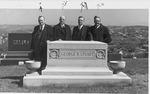 Group Portrait, Dr. Bob Jones, Dr. Robert G. Lee, Dr. Rood and Dr. Bob Shuler at a grave of George T. Stuart