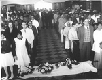 Attendees at ESJ's funeral held in Clara Swain chapel, India