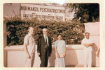 ESJ standing outside the Nur-Manzil Psychiatric Center in India that he helped found