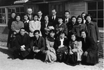 Group picture of Japanese people in Miyazaki, Japan, 1954
