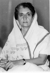 Portrait of Indira Ghandi, Prime Minister of India, taken at AICC meeting, Jabalpur, India