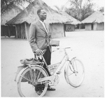 Jean Wembulua - preacher in Congo with his bicylce