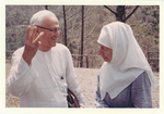 ESJ and Sister Lillaat at Sat Tal Ashram, India