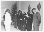Bishop J M Springer and church leaders in the Congo, 1960s