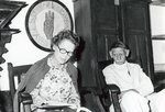 Eunice Mathews, grandaughter of ESJ with Professor Ahmed Shahat at Sat Tal Ashram, India, 1978